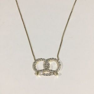 Jewelry - 14k Yellow Gold Diamond 💎 Pretzel Pendant 0.50ct